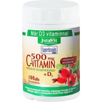 Jutavit CVitamin D3 500 mg csipkebogyó kivonattal 100 tabletta