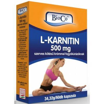 BioCo Lkarnitin 500mg szerves kötésű krómmal 60 db kapszula