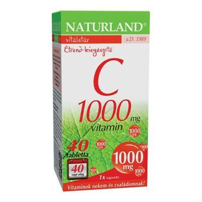 Naturland 1000 mg Cvitamin tabletta 40 db