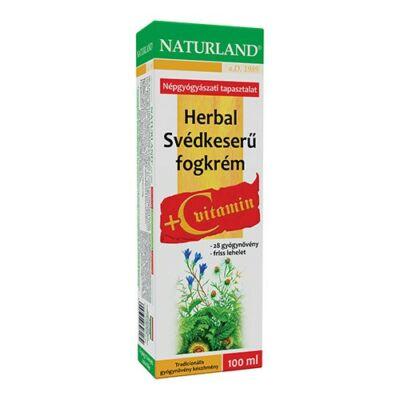 Naturland Herbal Svédkeserű fogkrém Cvitamin 100 ml