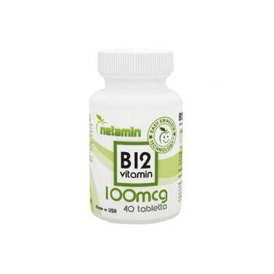 Netamin B12vitamin tabletta 40 db