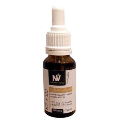 NV K2 D3 étrendkiegészítő cseppek 60 adag 20 ml