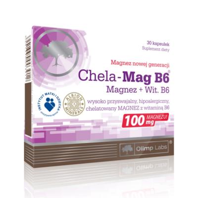 Olimp Labs ChelaMag kelát kötésű szerves magnézium   B6 kapszula 30 db
