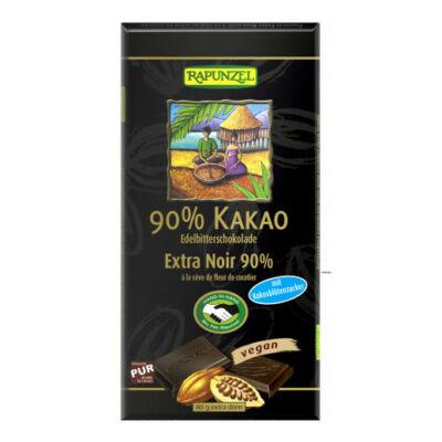 Rapunzel bio Keserűcsokoládé 90százalékosos kókuszvirágcukorral