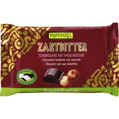 Rapunzel Cristallino bio félédes csokoládé egész mogyoróval 100 g