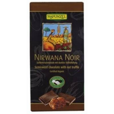 Rapunzel bio Nirwana Noir keserű töltött csokoládé vegán 100 g