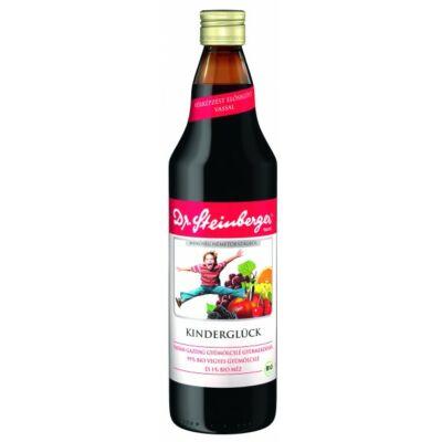 Dr. Steinberger bio Kinderglück vasban gazdag gyümölcslé gyermekeknek 750 ml