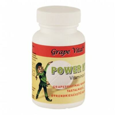 Grape Vital® Power Kids vitaminos tabletta 60 db