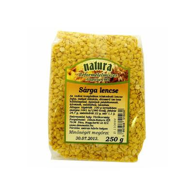 Natura sárga lencse 250 g
