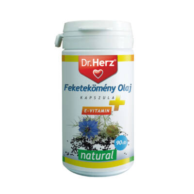 Dr. Herz feketekömény olaj 500 mg Evitamin kapszula 90 db