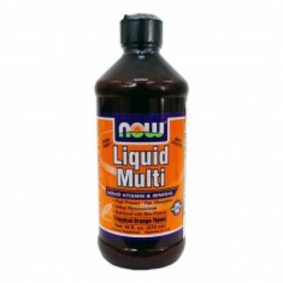 Now Liquid Multi folyékony multivitamin narancsos 473 ml