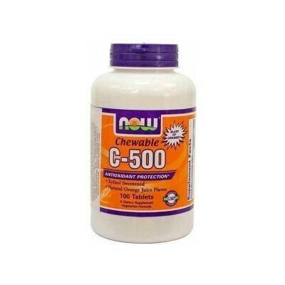 Now Cvitamin 500 mg narancs ízű rágótabletta 100 db