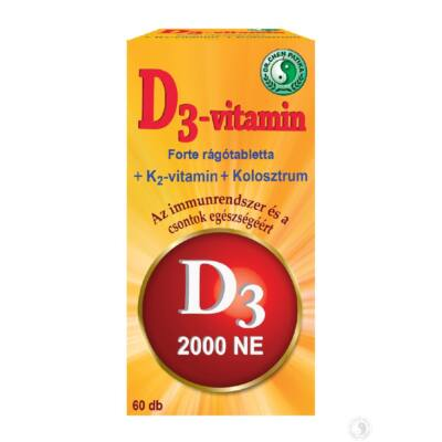Dr. Chen D3vitamin Forte rágótabletta 60 db