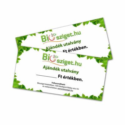 Biosziget ajándékutalvány 20.000 Ft értékben