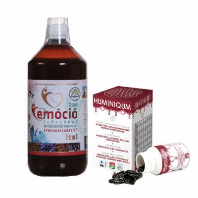 Emóció élőflórás ital és Huminiqum kapszula csomag