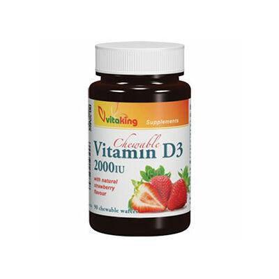 Vitaking D3vitamin 2000NE epres ízű rágótabletta 90 db