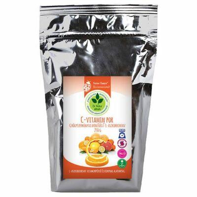 Dr. Natur étkek, C-vitamin por. Gyógyszerkönyvi minőségű L-aszkorbinsav. Külsőleg, Belsőleg.  250g