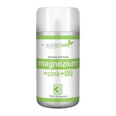Superwell magnéziumcinkb6 kapsz. 110db