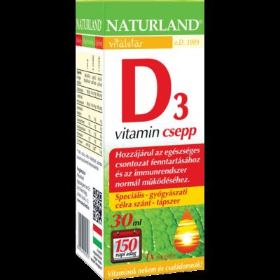 Naturland d3vitamin csepp 30 ml