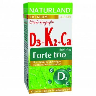 Naturland d3k2kálcium forte trió tabl. 30 db