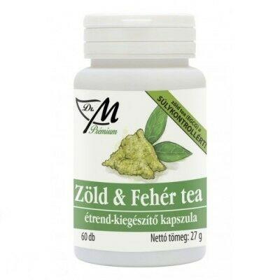 Dr.m prémium zöld amp; fehér tea kapszula 60 db