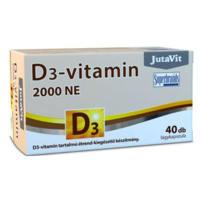 Jutavit d3 vitamin 2000 NE lágykapszula 40 db