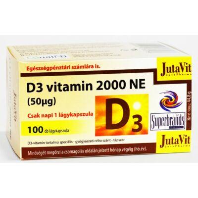 Jutavit d3 vitamin 2000 NE lágykapszula 100 db