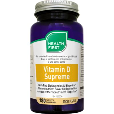 Health First Vitamin D Supreme 25 mcg 1000 IE 180 db tabletta