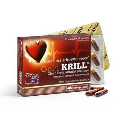 Olimp Labs® Gold Krill olaj - Standardizált, szagtalan, adalékanyag-mentes, szabadalmazott FlowCaps™tokban. 30 db