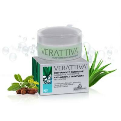 Specchiasol® Verattiva® Baktériumos, Öregedés elleni regeneráló ránc-kisimító kezelés - Bőrgyógyászatilag tesztelt összetétel! 50 ml