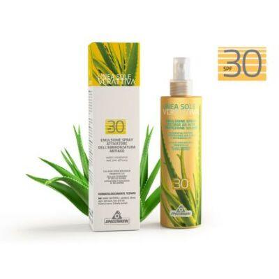 Specchiasol® Verattiva® 30 faktoros Napozó spray - Arcra/Testre. Nem tartalmaz: paraben, alkohol, OGM, SLES, SLS. 50 ml