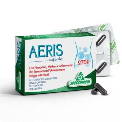 Specchiasol® AERIS kapszula - növényi szén, gyógynövények, illóolajok és mangán a jó emésztésért 30 db