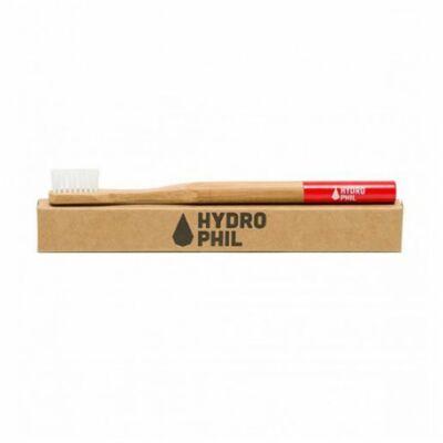 Hydrophil felnőtt bambusz fogkefe közepes sörtével-piros 1 db