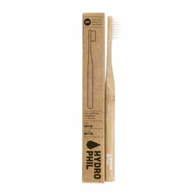 Hydrophil bambusz fogkefe közepes sörte felnőtt natúr nyél 1 db