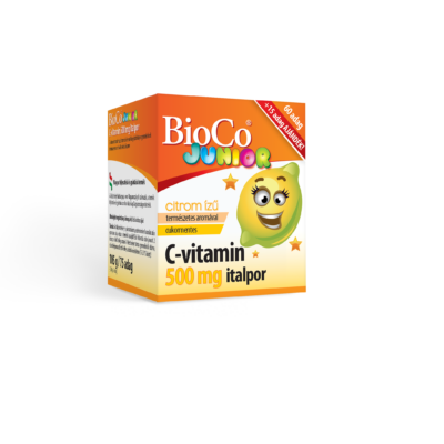Bioco C-Vitamin Italpor 500Mg Junior, 60 adag