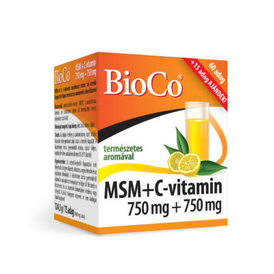 Bioco Msm+C-Vitamin Italpor 750Mg+750Mg, 124,5 g