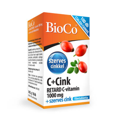 Bioco C+Cink Retard C-Vit. 1000Mg, 100 db