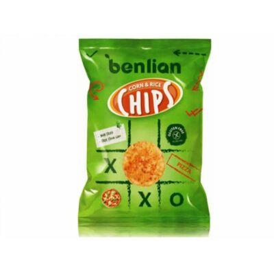 Benlian Kukorica & Barnarizs Chips Pizzás, 50 g