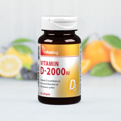 Vitaking D2000 vitamin 90 kapszula