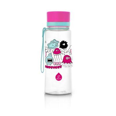 MyEqua BPAmentes műanyag kulacs 600 ml  Nagy Rózsaszín Szörnyecske