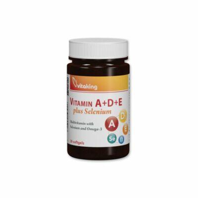 Vitaking A+D+E +Szelén komplex gélkapszula, 30db