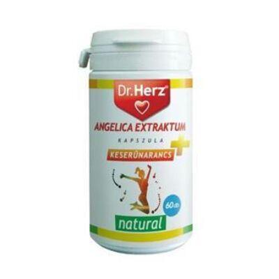 Dr. Herz Angelica Extraktum + Keserűnarancs, 60 db kapszula