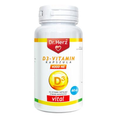 DR Herz D3-vitamin 4000NE kapszula, 60 db