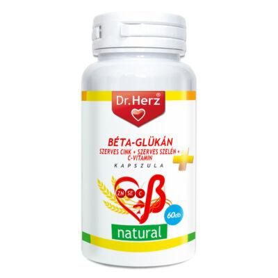 DR Herz Béta-Glükán+Szerves Zn,Se+C-vitamin kapszula, 60 db