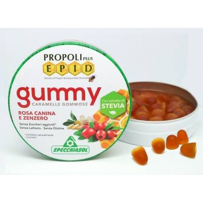 Specchiasol EPID szopogatós gumicukor – propolisz, csipkebogyó, gyömbér – 40g