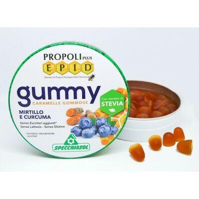 Specchiasol EPID szopogatós gumicukor - propolisz, fekete áfonya, kurkuma, 40 g