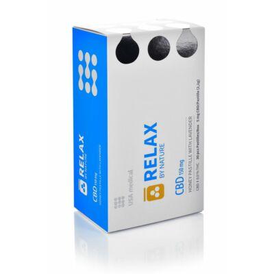 USA Medical CBD RELAX by Nature Levendulás mézpasztilla 150 mg - 30 db