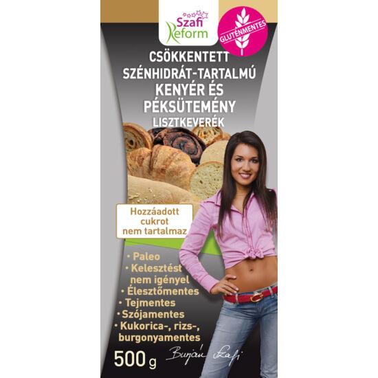 Szafi Reform Csökkentett Szénhidráttartalmú kenyér és péksütemény lisztkeverék 500 g