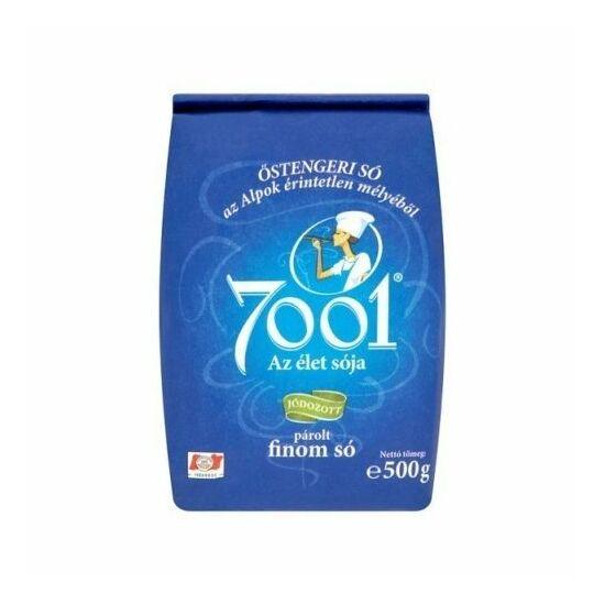 7001 Finom Asztali Só Jódozott Tasakos 500 g