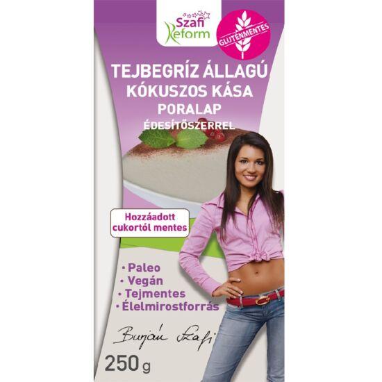 Szafi Reform tejbegríz állagú kókuszos kása poralap édesítőszerrel 250 g